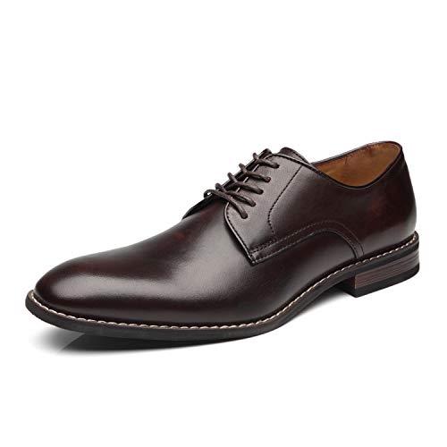 La Milano Men Dress Shoes Lace Up Oxford Classic Plain Toe Modern Formal Shoes for Men