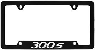Chrysler 300s Black Coated Metal Bottom Engraved License Plate Frame Holder