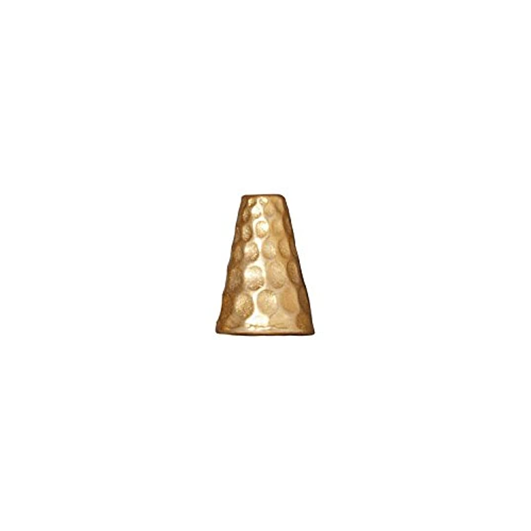 TierraCast Cone Hammered, 9x13mm, 22K Gold Plate Pewter, 3-Pack