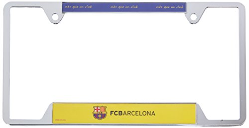 WinCraft Soccer FC Barcelona Metal License Plate Frame