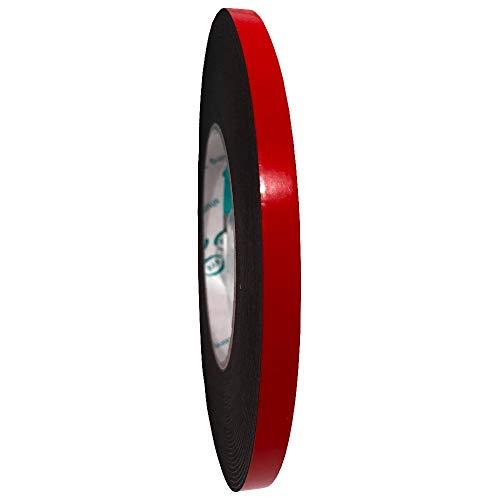 Snifu 作業用 PE超強力スポンジ 両面テープ 超強力 厚手 強粘着テープ 耐熱性 防水 粗面素材用 多用途 屋内/屋外用/車用/広告用/家庭用 (幅8mm長さ10m厚み1mm)