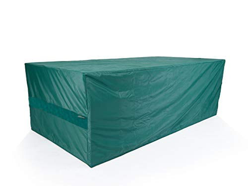 Covermates Rectangular Dining Table/Chair Set Cover - Light Weight Material, Weather Resistant, Elastic Hem, Patio Table Covers-Green