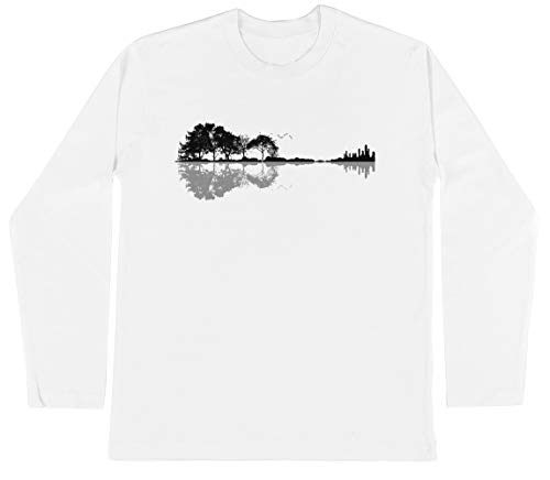 Natuur Gitaar Unisex Kinder Jongens Meisjes Lange Mouwen T-shirt Wit Unisex Kids Boys Girls's Long Sleeves T-Shirt White