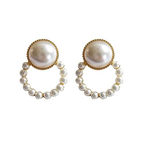 Boucles d'oreilles en perles douces pour femmes Aiguille en argent 925,boucles d'oreilles en perles,cadeau de bijoux pour femmes,boucles d'oreilles pendantes,boucles d'oreilles faites à la main