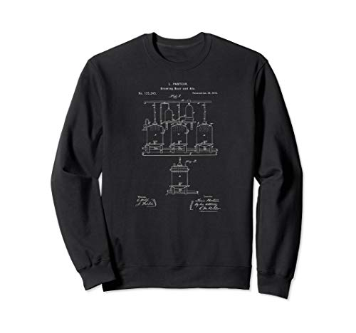 Classic Vintage Patent Print 1873 Craft Beer Brewing Sweatshirt