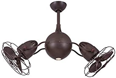 Anemos Acqua TB Ceiling Fan, Textured Bronze, 16 x 37 in