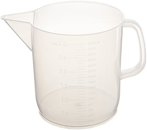 United Scientific 81124 Polypropylene Short Form Pitchers, 3000ml Capacity (Pack of 6)