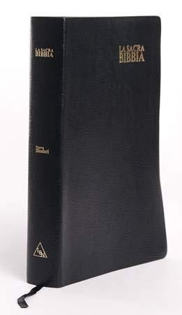 La Sacra Bibbia Nuova Diodati a caratteri grandi (171.242) Nera, taglio oro con rubrica, Formato grande