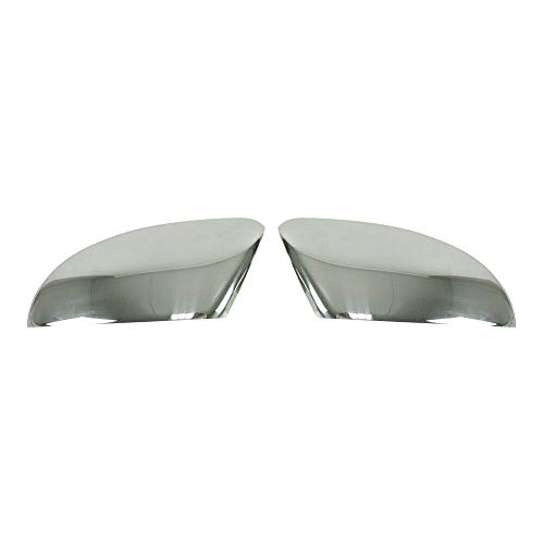 OMAC Spiegelkappen Spiegelabdeckung Leiste Kompatibel mit VW Passat B7 2010-2015 2 tlg Auto Rückspiegel Spiegelblenden Abdeckung aus Edelstahl Chrom