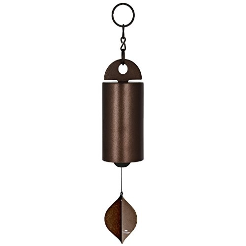 Woodstock Chimes HWMC The Original Guaranteed Musically Tuned Chime Medium Heroic Windbell, Antique Copper