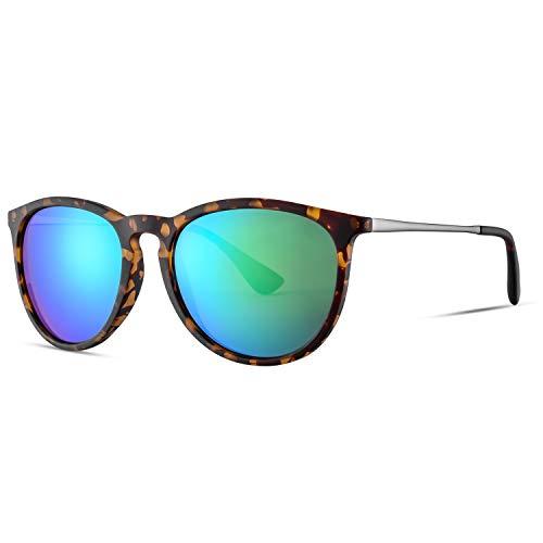 Mosanana Polarized sunglasses for women men best retro vintage tortoise shell Leopard mirrored green lens trendy trending stylish fashion beach style 2020 lady popular classic good shade reflective uv