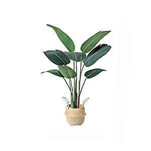 DONGTAISHANGCHENG Tropical Artificial Tree Plant 47 Inch, Faux Fake Palm Plants,Fake Tree for Garden Hotel Terrace Decoration (Banana Leaf)