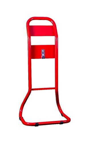 Feuerlöscher-Ständer, röhrenförmig, Rot, ohne Beschilderung oder Auslöser