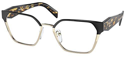 Prada Gafas de Vista PR 63WV Black Pale Gold 53/18/140 mujer