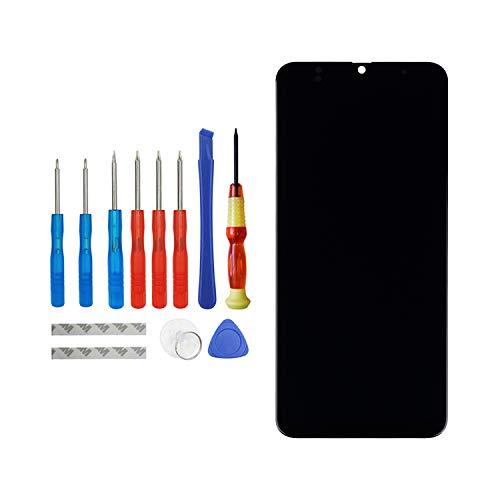 Vvsialeek Pantalla de repuesto AMOLED compatible con Samsung Galaxy A30 SM-A305F SM-A305FN, repuesto de pantalla táctil LCD con kit de herramientas