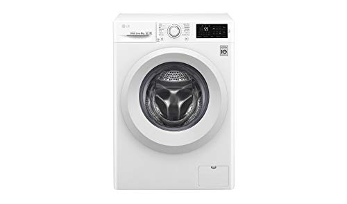 LG F4J5TN3W - Lavadora 8 kg con tecnología 6 Motion Direct Drive (1400 RPM, Eficiencia Energética A+++ -30%, motor Direct Drive, botón Pausa y añade, Smart ThinQ con Smart Diagnosis) color blanco