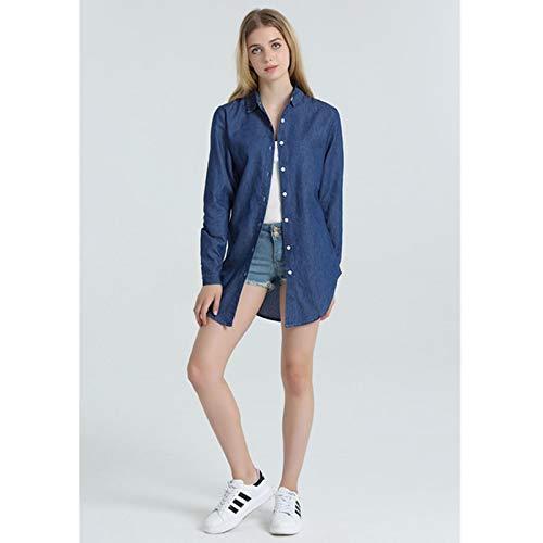 NZJK dunne jeansjas voor vrouwen vrouwelijk wijnoogst-jeans-jas-vrouwen casual lange mouwen dames windjack