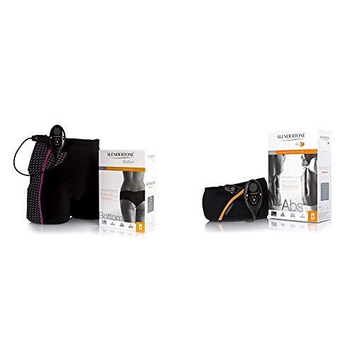 Slendertone Short Bottom Electroestimulador para glúteos Mujer, Negro/Rosa + Rechargeable Abs7 Cinturón de tonificación Abdominal, Unisex, Negro, 69-119 cm