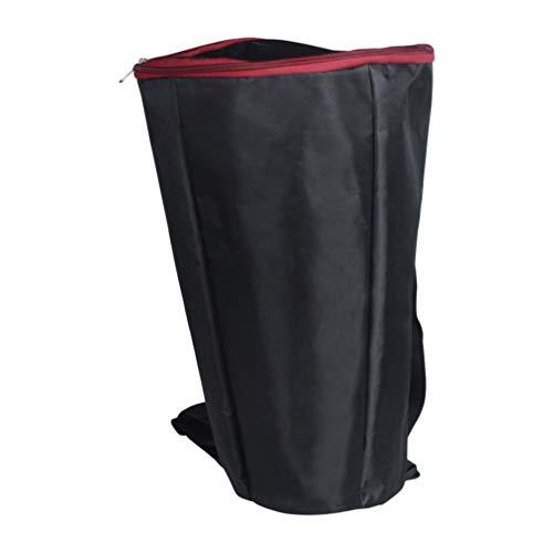 HEALLILY Djembe Bag Borsa per Il Trasporto di Tamburi Africani Zaino Impermeabile Borsa a Tracolla Portatile per Forniture per Spettacoli Teatrali (Nero Cerniera Colore Casuale)