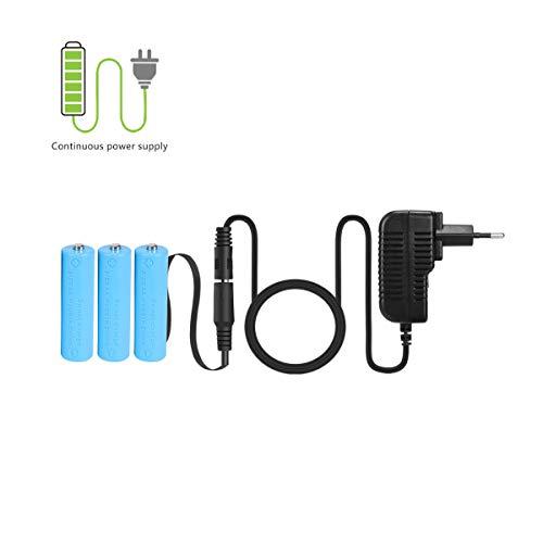 LANMU Netzteil Adapter 4,5V Batterieadapter Zubehör für LED Lichterkette/Wanduhr/LED Timer/Blitz (Batterieersatz für 3 STK. AA Batterien, EU Stecker)
