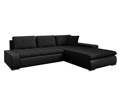 Mirjan24 Eckcouch Ecksofa - Orkan! Elegante Sofa mit Schlaffunktion und Bettfunktion, Bettkasten Couch L-Sofa Große Farbauswahl, Beste Qualität (Soft 011 + Lawa 06)