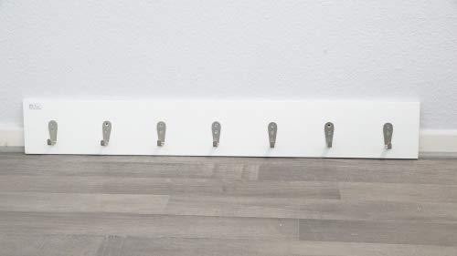 Wohnliebhaber Weiße Wandgarderobe Modern Garderobenleiste Bauhaus Silber 7 Garderobenhaken