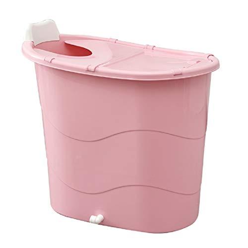 Badewannne Reisebadewanne freistehend Campingbadewanne mobile Babywanne Kinderbadewanne Outdoor bath tube (90x58x82cm, Pink)