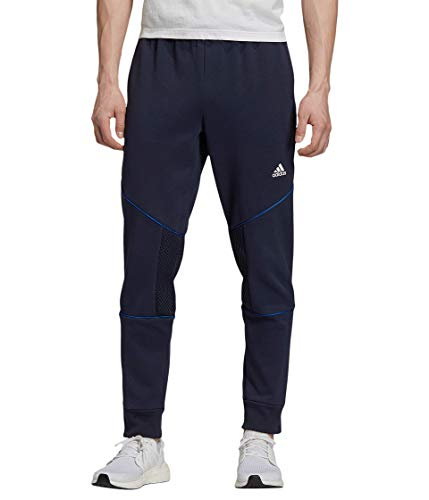 adidas Must Haves Personal Best Pantalones, Azul, Large para Hombre