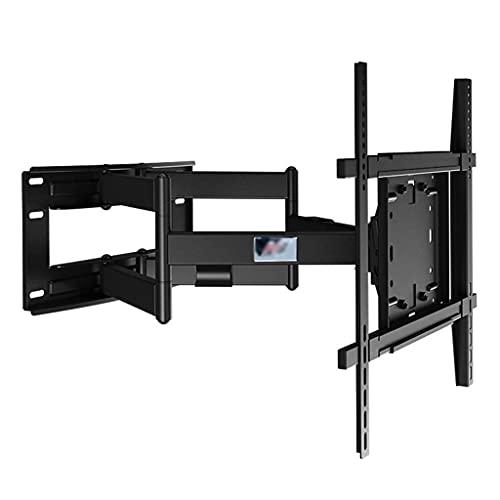 FACAZ Soporte para Monitor de Oficina con Estante Giratorio telescópico para Dormitorio de Montaje en Pared para TV para TV de 50-80 Pulgadas (Color: Negro, Tamaño: 50.5 * 11.6-70.8cm)