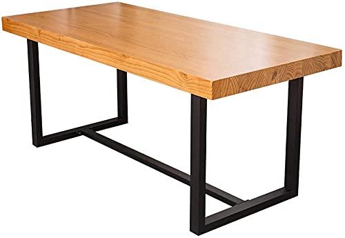Escritorio de oficina moderno y simple de madera maciza para el hogar, estación de trabajo, estilo industrial, estudio de escritura, escritorio de computadora para trabajo-A 39 x 20 x 30 pulgadas