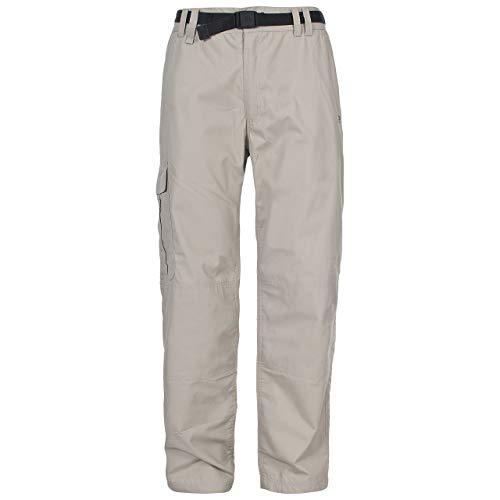 Trespass Clifton Pantalon avec ceinture Homme Beige FR : XS/Long (Taille Fabricant : XS/Long)