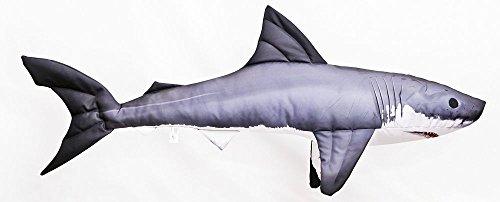 Gaby Kissen Fisch Hai weiße Hai 120 cm Kuschelfische Kuscheltie Kopfkissen Plüschtier