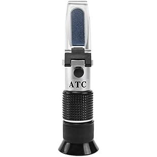 Uzinb Handheld Honey Refractometer Tester 58-90% Brix 38-43 Baume 10-33% Water ATC Temperature Compensation for Beekeeper:Superclub