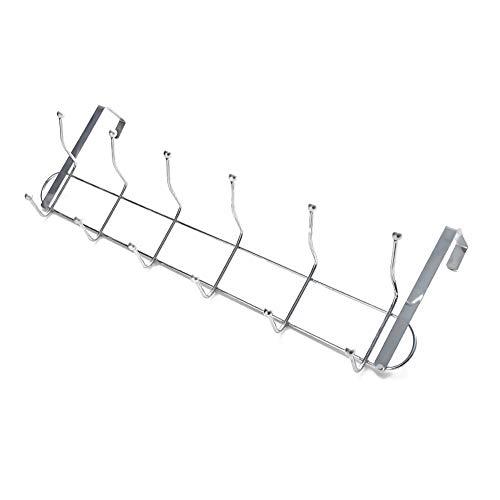 Coat Rack NOVY Over Deur Haken, Deur Hanger,Geschikt voor 3,5-4,5 cm Dikte Deur Hanging,met 6 Haken, Bestel En Tidyness Thuis, Eenvoudig te installeren