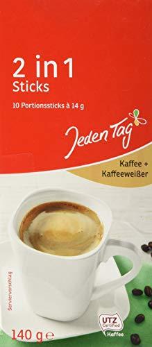 Jeden Tag Coffee Creamer Sticks 10er, 2 in 1