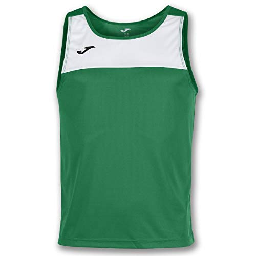Joma Race Camisetas Caballero, Hombre, Verde/Blanco, M