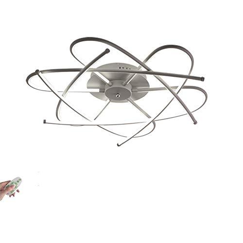 KBEST Luz Techo Dormitorios Plafon LED Diseño Lamparas de Techo Modernas para Comedor Regulable 3000K-6500K con Control Remoto Decoracion Salon Habitacion Mesa de Salon Comedor,Matte Gray,80cm