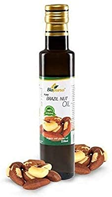 Certified Organic Cold Pressed Brazil Nut Oil 250ml Biopurus