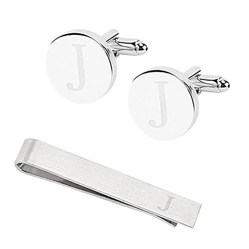 GORGECRAFT - Gemelos Clásicos para Hombre, Juegos de Pinzas para Corbata Y Gemelos para Hombre, J