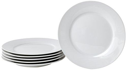 Deagourmet 204, Saturno Set 6 Piatti Dessert, Porcellana Bianca