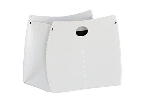 Gavemo VANDA: portariviste in cuoio, colore Bianco, Made in Italy