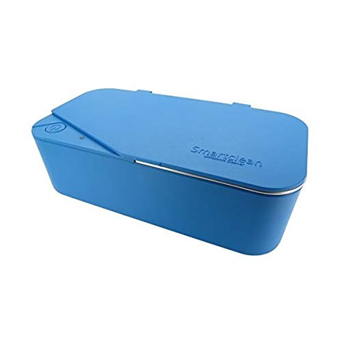 Smartclean Vison.5 Household Ultrasonic Cleaner Slim Compact Eyewear Cleaning (Blue)