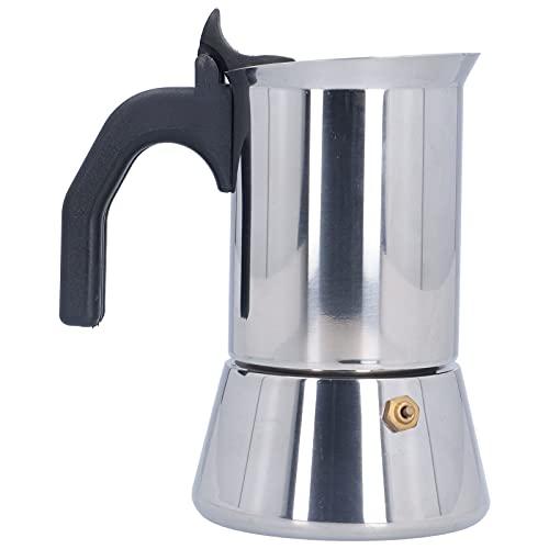 Ekspres do kawy Moka, łatwy do czyszczenia dzbanek do kawy Ekspres do kawy Mały rozmiar Odporny na korozję ze stali nierdzewnej Ergonomiczny do użytku w domowej kuchni