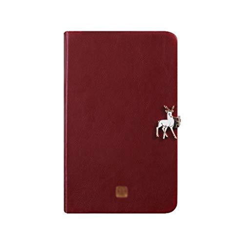 Cuadernos de diario en blanco de papel rayado plan Cuaderno de hebilla Diario de superficie de cuero de alta gama for hombres y mujeres de la oficina increíble Paquete de trabajo escolar Diario de cua