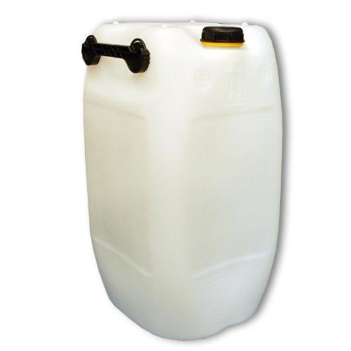 Wilai 60L Getränke- Wasserkanister Natur mit Schraubdeckel (DIN 71) | Lebensmittelecht | Tragbar mit 3 Griffen | Indoor und Outdoor | BPA Frei