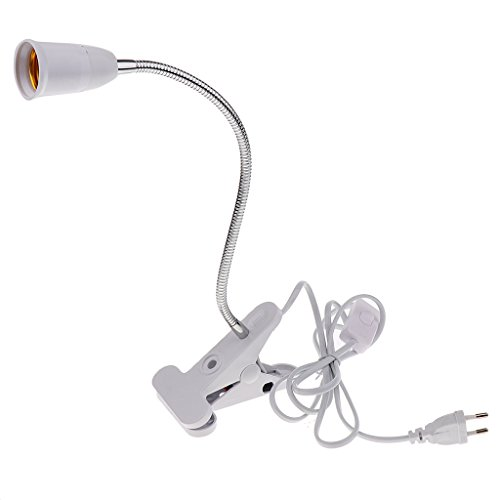 Gazechimp 1 Stk. Flexibler Drahthals Mit Ein / Aus-schalter E27 Licht Lampenfassung Eu-stecker