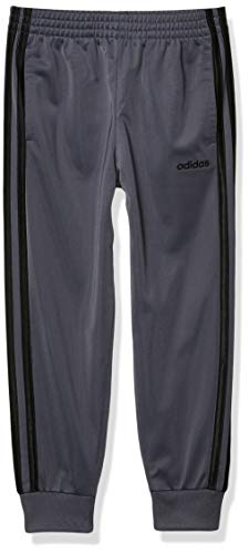 adidas Boys' Little Active Sports Athletic Tricot Jogger Pant, Core Linear Dark Gray, 4