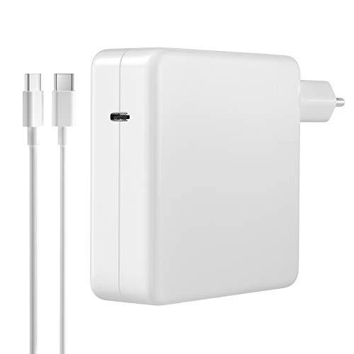"""Chargeur USB C, 96W USB C Chargeur MacBook Pro Chargeur d'alimentation Compatibles AVCE MacBook Pro 16"""" 15"""" 13"""", MacBook Air 2018, iPad Pro,Remplacer Chargeur USB C 87W 61W 29W,(avec 2M Câble USB C)"""