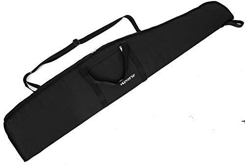 Reverse Waffentasche Jagdtasche Waffenfutteral für Luftgewehr mit Fernrohr Gewehrfutteral Gun Case Windjacke (Black, 120cm)
