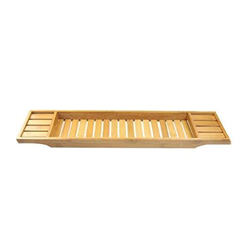 DONG Bamboo Bath Accessoires Plateau, Bambou Baignoire Caddy Plateau pour Une Maison Spa Experience, pour Livre, Téléphone, Tablette, Porte-Verre À Vin,Natural